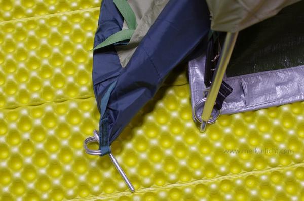 テントとグラウンドシート接続