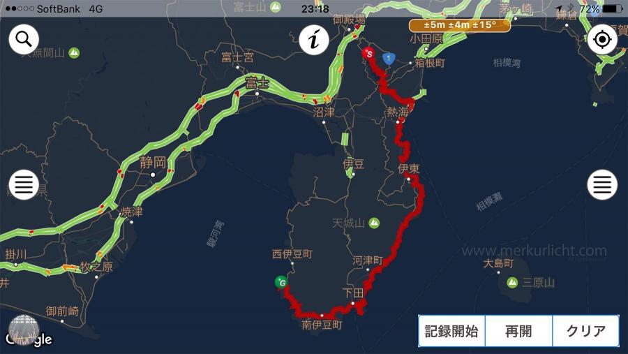 日本一周-2日目-ルート