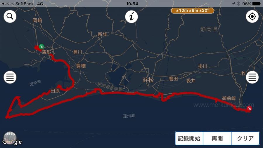 日本一周-5日目-ルート
