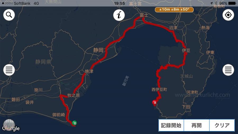日本一周-3日目-ルート