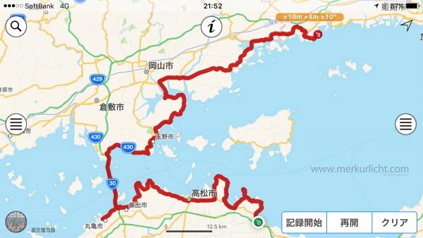 日本一周-15日目-ルート