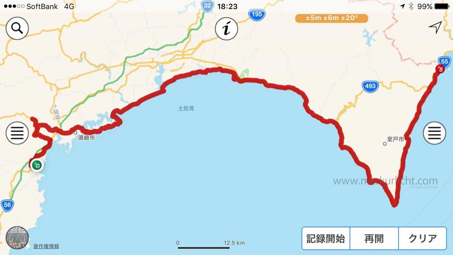日本一周-19日目-ルート