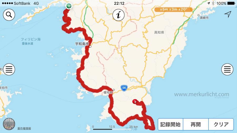 日本一周-21日目-ルート