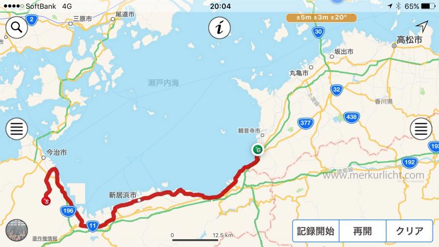 日本一周-23日目-ルート