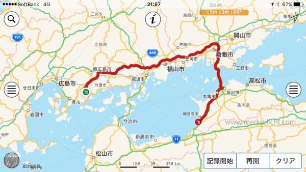 日本一周-25日目-ルート