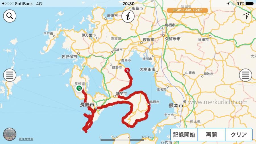 日本一周-44日目-ルート