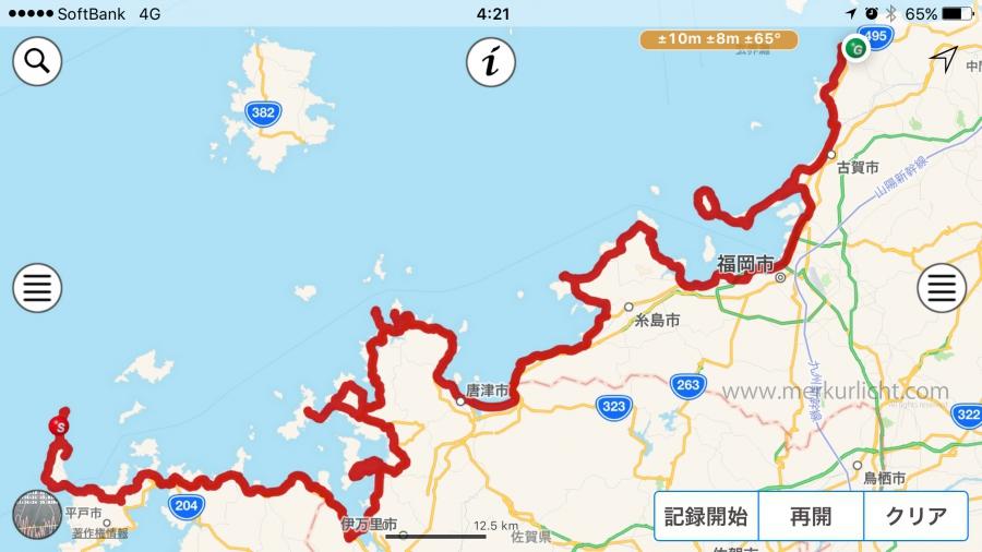 日本一周-46日目-ルート