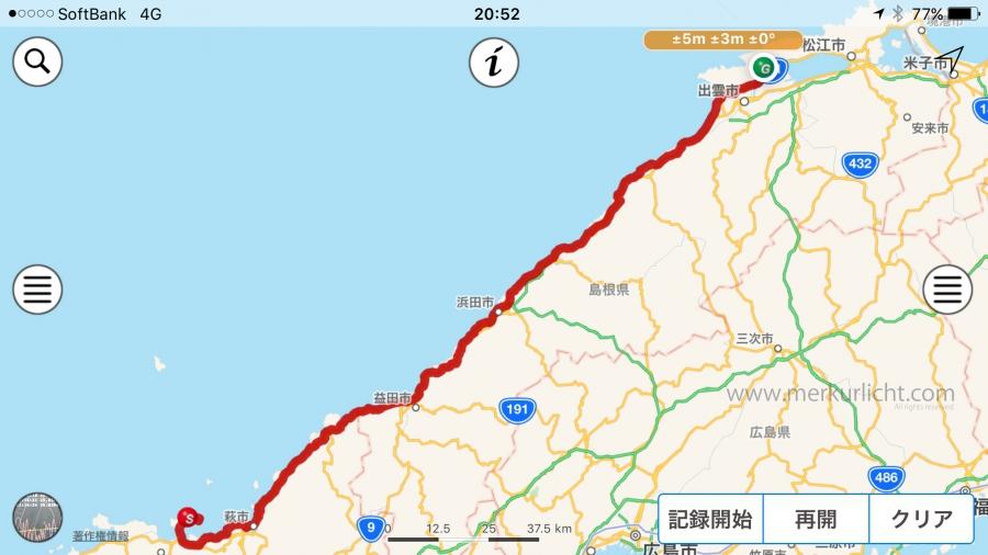 日本一周-48日目-ルート